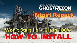 How to Install Tom Clancy's Ghost Recon Wildlands Fitgirl Repack on PC - Fix All Errors Crash