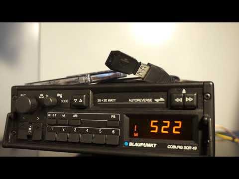 Old school vintage car radio Blaupunkt Coburg SQR-49 with USB module