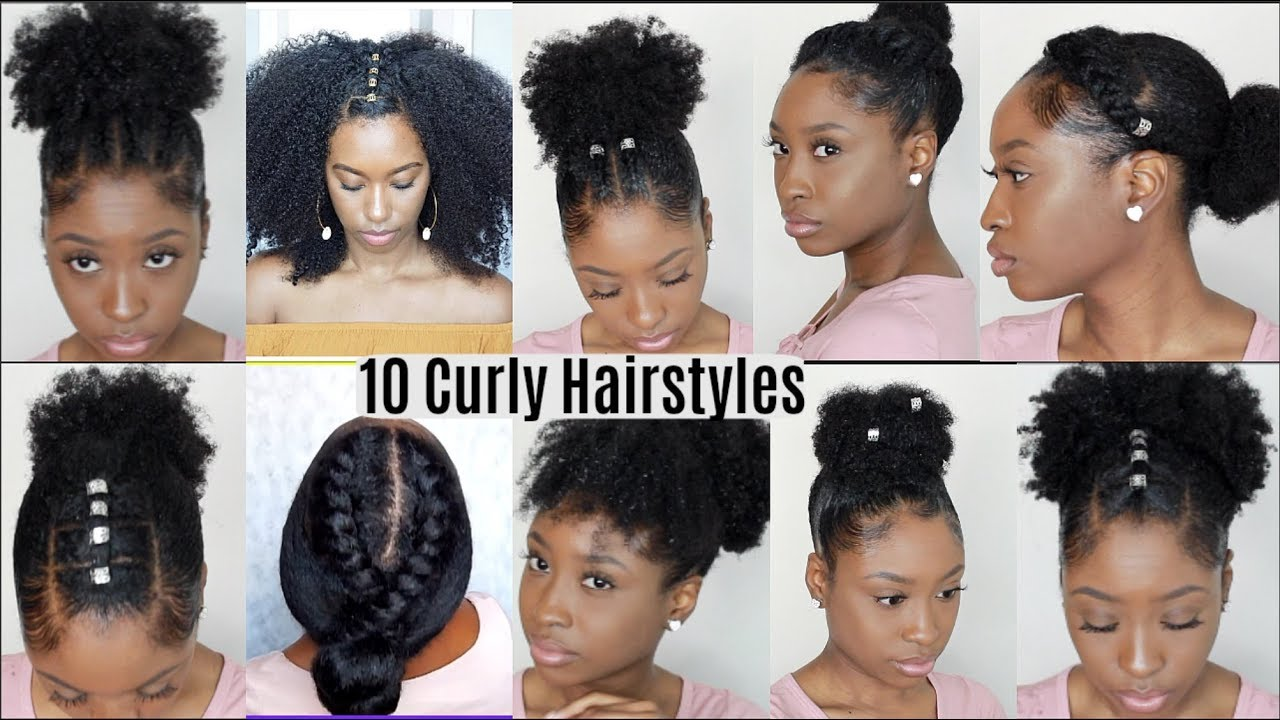 10 Quick Easy Hairstyles For Natural Curly Hair Instagram Inspired Hairstyles