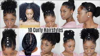 10 Quick Easy Hairstyles For Natural Curly Hair | Instagram Inspired Hairstyles