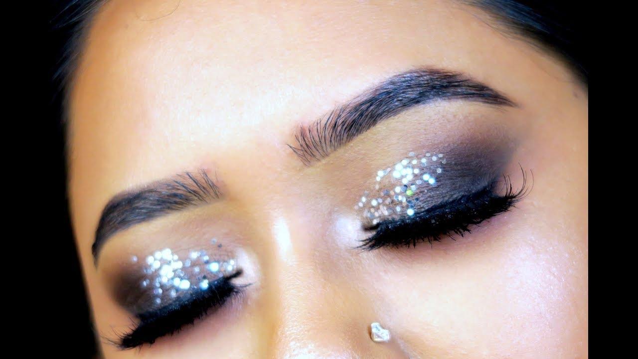 34d74e98a40 Classic silver glitter eye makeup tutorial youtube jpg 1280x720 Silver  glitter eye makeup tutorial