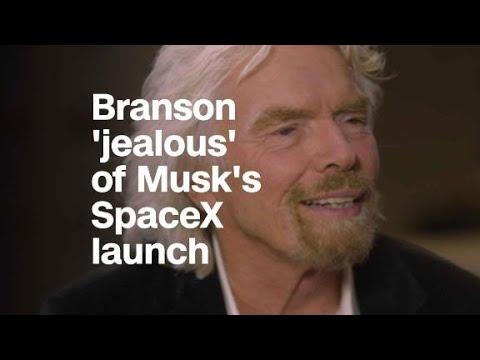 Richard Branson is 'a little jealous' of Musk...