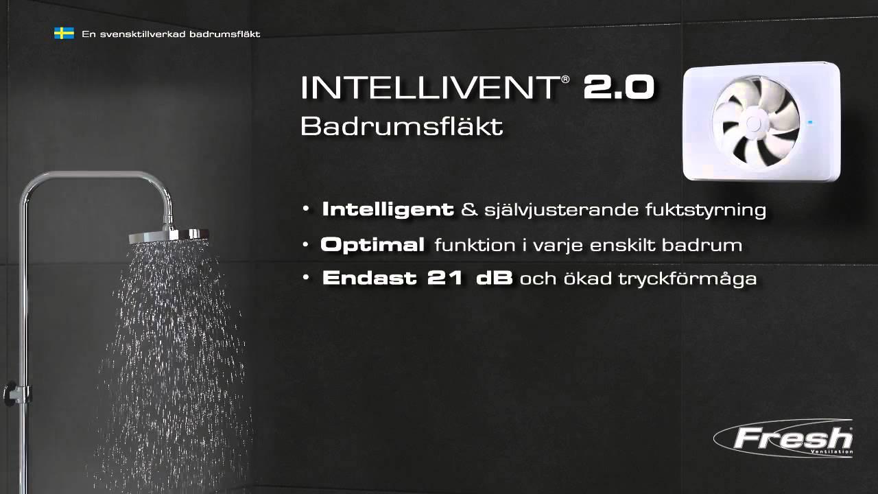 Badrum badrumsfläkt : Badrumsfläkt Fresh Intellivent 2.0 pÃ¥ Smarthem.se - YouTube