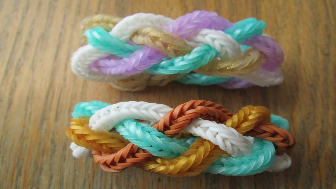 how to make cool rainbow loom bracelets with your fingers
