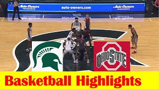 Ohio State vs Michigan State Basketball Game Highlights 2 25 2021