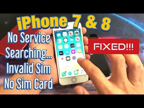 iPhone 7 & 8: No Service / Searching... / Invalid Sim / No Sim Card (FIXED!)