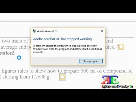 Fixed 100 Adobe Acrobat Dc Has Stopped Working Windows 8 10