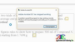 Fixed 100%: Adobe Acrobat DC has Stopped Working Windows 8 & 10 | PDF Reader Crashing Error