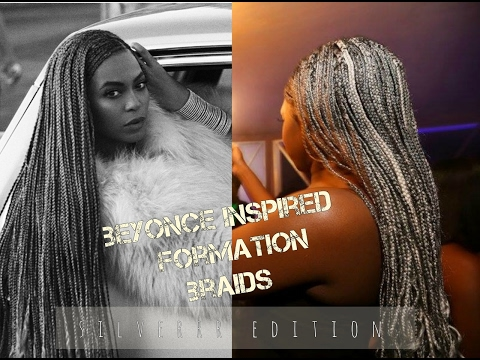 SILVER  Beyonce Formation BRAIDS  ||    Box Braids with Cornrows  || The Snatchural Express