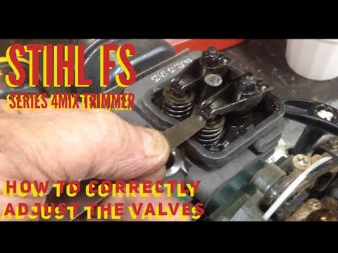 STIHL FS SERIES 4MIX TRIMMER / WEED EATER REPAIR / HOW TO CORRECTLY ADJUST  THE VALVES