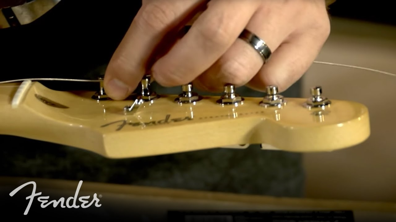 how to change your electric guitar strings fender [ 1280 x 720 Pixel ]