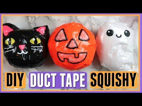 DIY Duct Tape Squishies- Halloween Edition! No Foam!