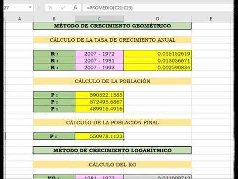 Plantilla de Excel para cálculo de población futura - YouTube