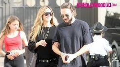 Heidi Klum & Tom Kaulitz Have Lunch With The Kids At Urth Caffe Before Shopping At The Grove
