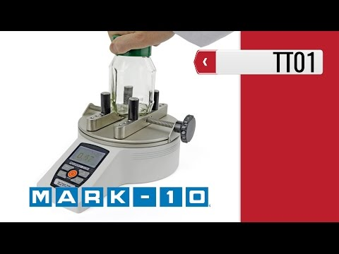 Mark-10 Cap Torque Testers Series TT01 (product video presentation)
