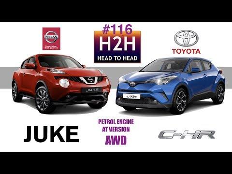 H2H #116 Nissan JUKE AWD vs Toyota C-HR AWD