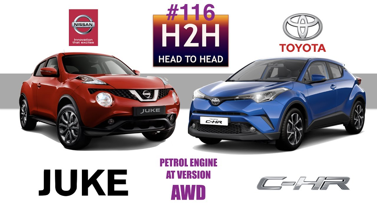 H2h 116 Nissan Juke Awd Vs Toyota C Hr Awd