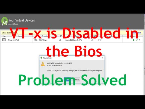 VT-x is Disabled in The Bios Android Studio. [Solved Problem] How to Enable VT-x in the Bios?