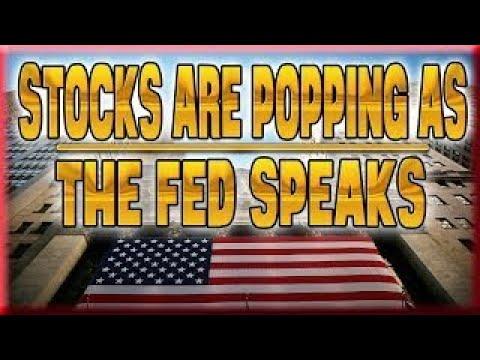 JOHN RUBINO Stocks Are Popping As The Fed Speaks