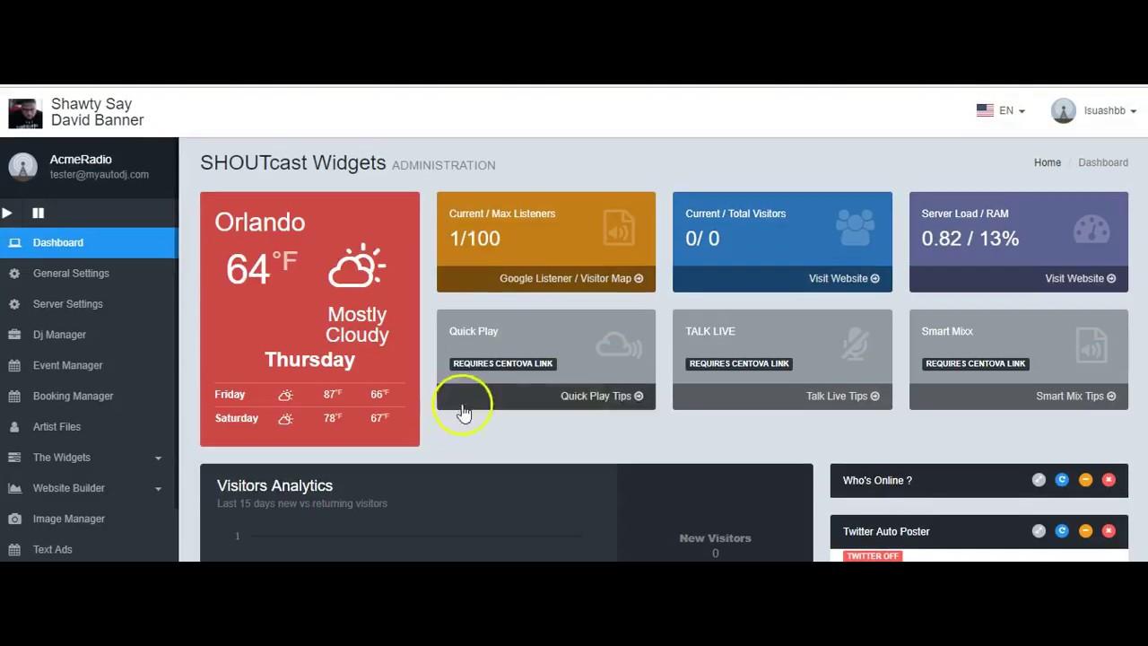 SHOUTcast Copy and Paste Widgets for your Website!