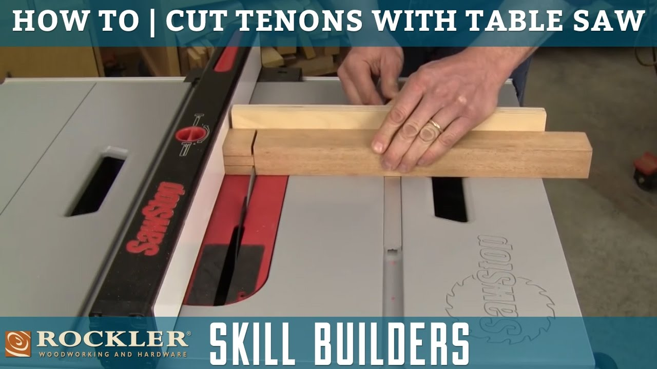 How to cut tenons with a table saw rockler skill builders youtube keyboard keysfo Gallery