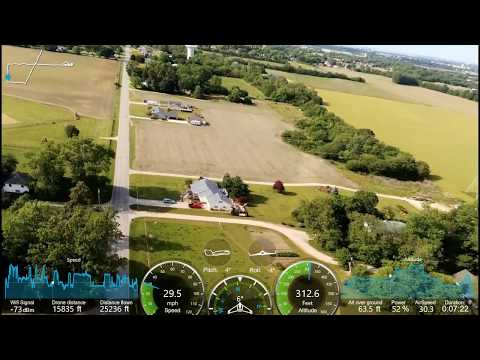 Flying Parrot Disco from Moving Car with telemetry!