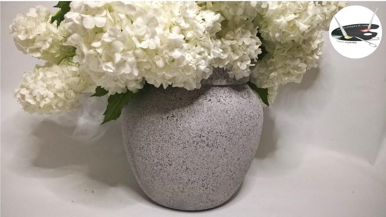 Jak błyskawicznie zrobić kamienny wazon lub osłonkę