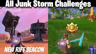 Fortnite Week 4 Junk Storm Challenges & Week 4 Battle Star | Glitched Foraged Items (Fortnite)