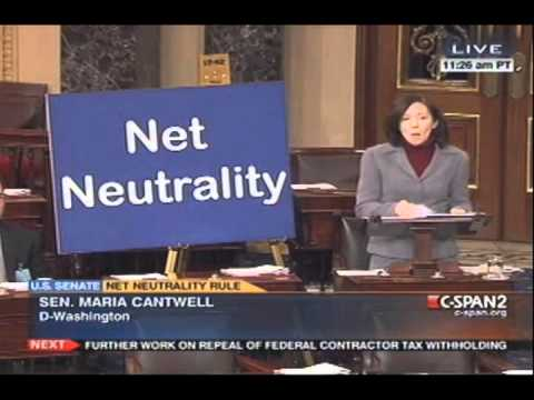 Sen. Maria Cantwell Speaks Out FCC Net Neutrality Rules