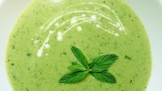 Рецепт! Летний гороховый суп с мятой   #108