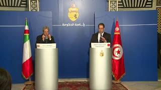 Dichiarazioni alla stampa di Gentiloni e del Primo Ministro tunisino Youssef Chahed