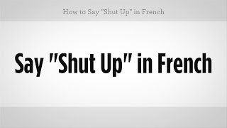 In Say french asshole