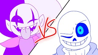 Download Mp3 Jevil Vs Sans | Cancelled Flipaclip Animation