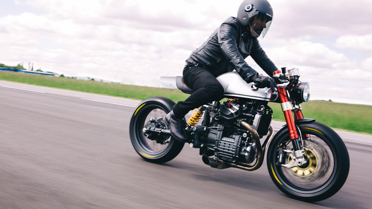 Red Honda Cafe Racer