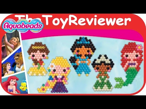 AquaBeads Disney Princess Character Playset Water Beads Ariel Unboxing Toy Review by TheToyReviewer