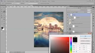 Видеоурок Photoshop Коллаж постер 80х