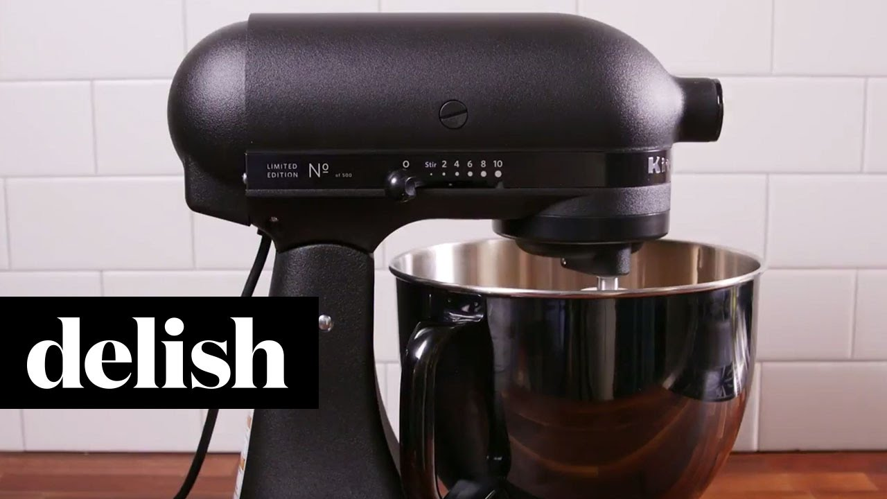 KitchenAid Matte Black Mixer | Delish