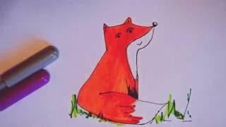 Как нарисовать лису. Рисуем лису how to draw a fox(Если Вам понравилось видео, подписывайтесь на мой канал: https://www.youtube.com/channel/UCqy7--XK7XV6feslvKXeirQ В видео показан..., 2016-10-14T12:34:11.000Z)