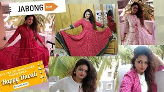 DIWALI JABONG SALE #KURTI SETS & ANARKALI50% & above -TRY ON HAUL