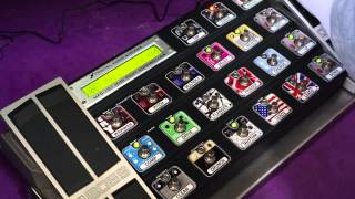 Fractal Audio Systems MFC-101 MIDI Foot Controller Test with axe fx 2.