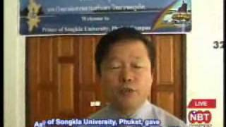 Prince of Songkla University, Phuket, orientation seminar to 400 students going to China