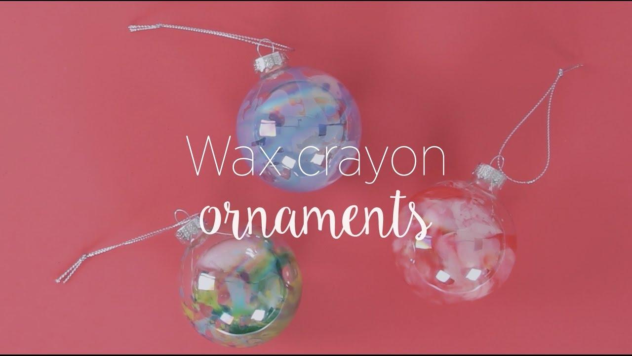 Wax Crayon Ornaments