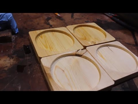 Make wood coasters for gifts or to sell.