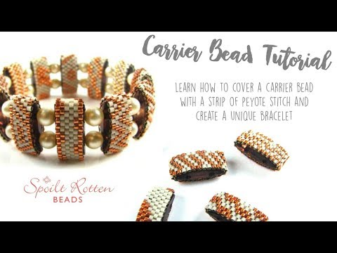 Even Count Peyote Stitch Carrier Beading Tutorial