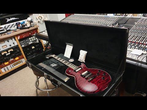 2007 ESP Eclipse 4-Knob Les Paul Guitar Red Quilt Top Up Close Video Review