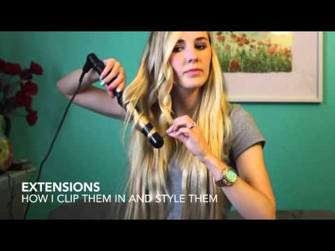 HAIR || how to style extensions