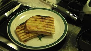 Ham Bacon And Blue Cheese Panini Sandwiches
