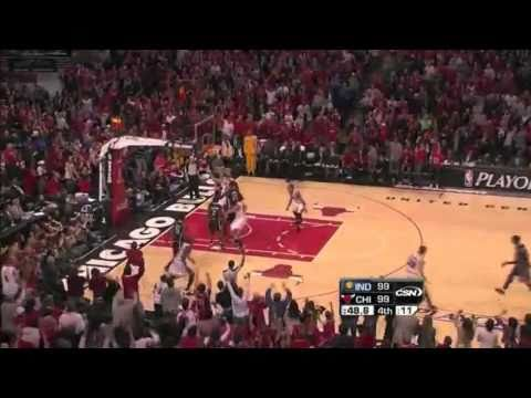 Kyle Korver Game Winning Playoff 3 vs Indiana (Stacey King Call)