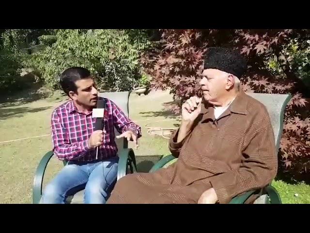 Syed Junaid Hashmi of Jammu Kashmir Newspoint in conversation Dr. Farooq Abdullah