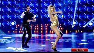 ¡Hernán Piquín y Macarena Rinaldi vibraron con Shakira en la pista de Bailando!